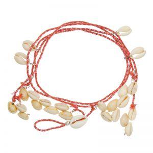Ankle bracelet beachy shells